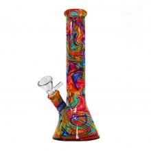 Abstract Colors Glass Bong 26cm