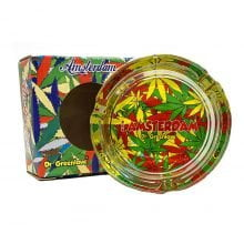 Amsterdam cool leaves rasta glass ashtray