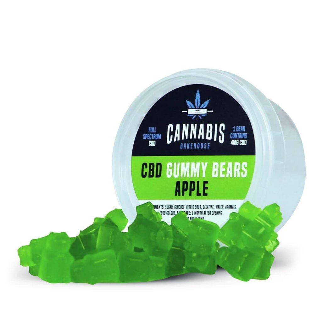 Cannabis Bakehouse CBD Gummy Bears Apple 4mg (30g)