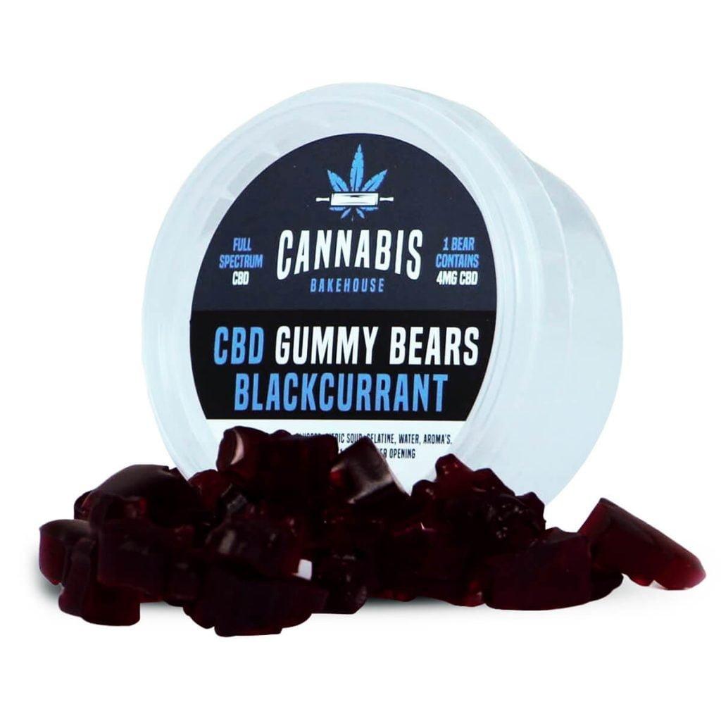 Cannabis Bakehouse CBD Gummy Bears Blackcurrant 4mg (30g)