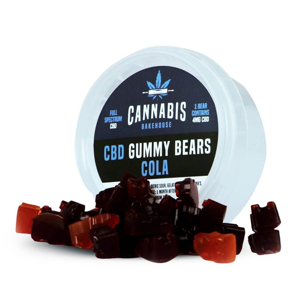 Cannabis Bakehouse CBD Gummy Bears Cola 4mg (30g)