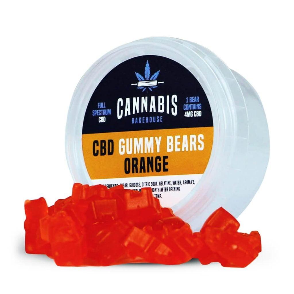 Cannabis Bakehouse CBD Gummy Bears Orange 4mg (30g)