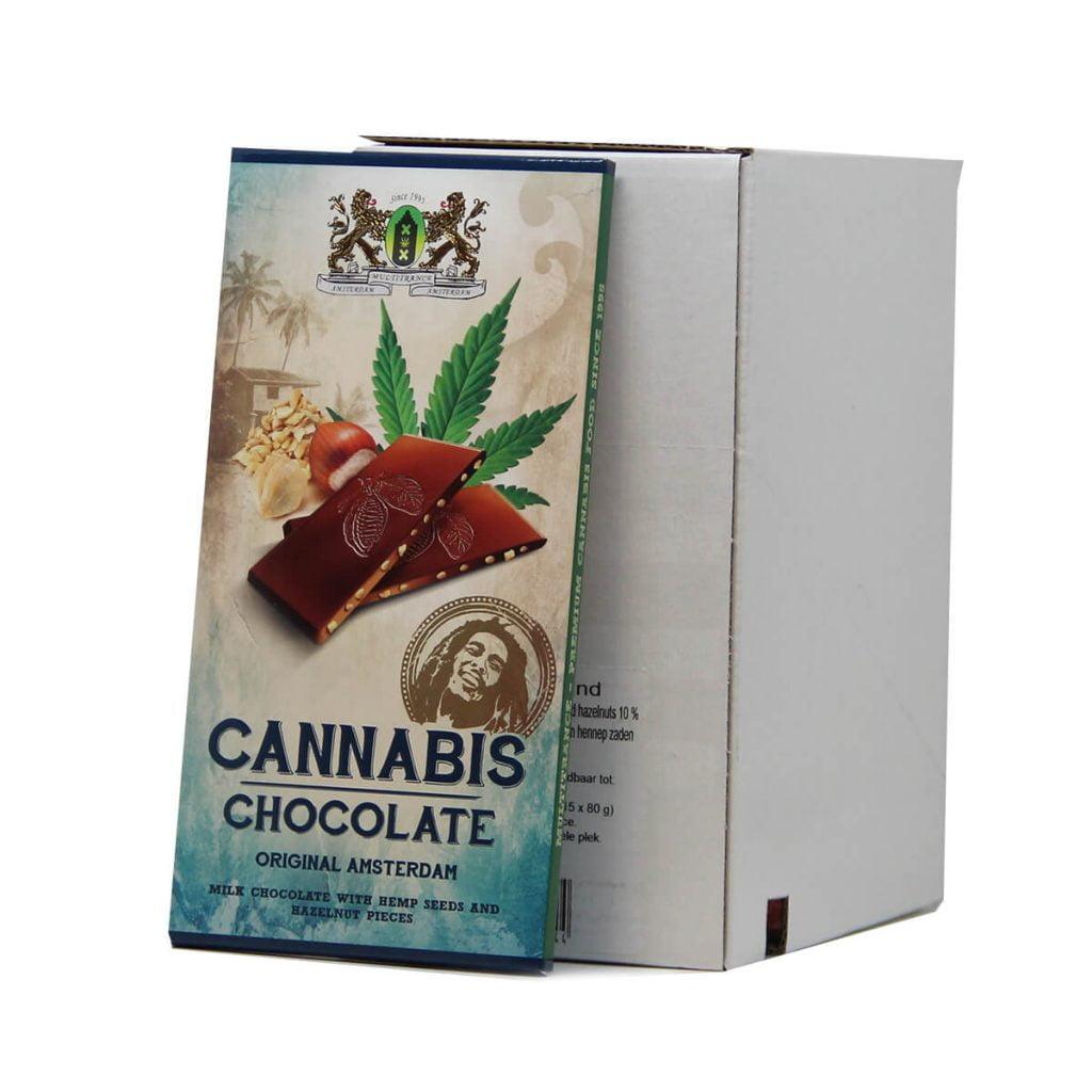 Cannabis milk hempseeds and hazelnuts chocolate THC free (15pcs/display)