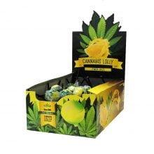 Cannabis lollipops box Lemon Haze THC free (70pcs/display)