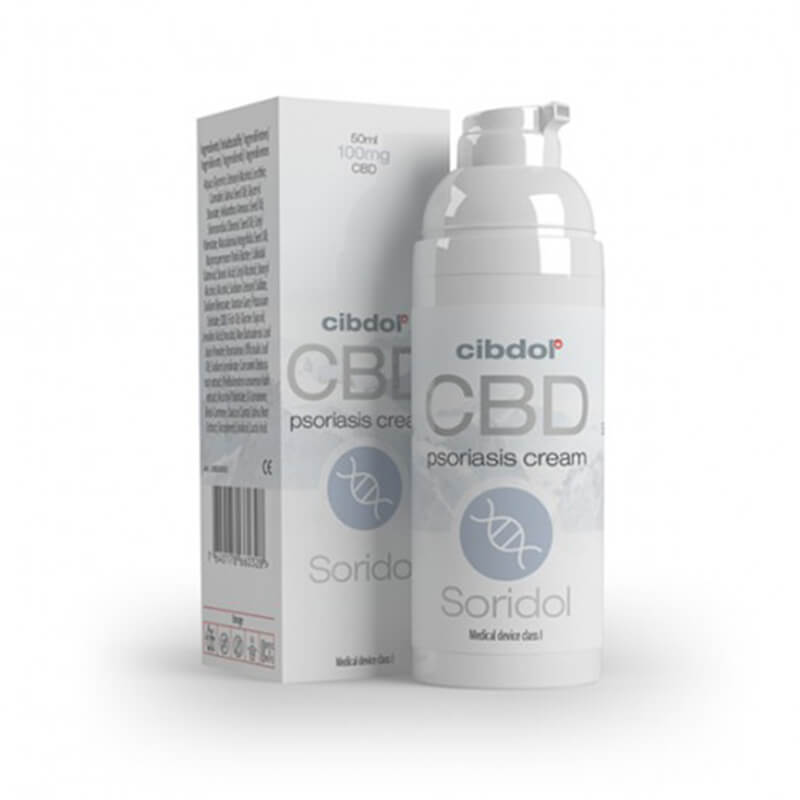 Cibdol - Soridol Psoriasis Cell Growth 100mg CBD cream (50ml)