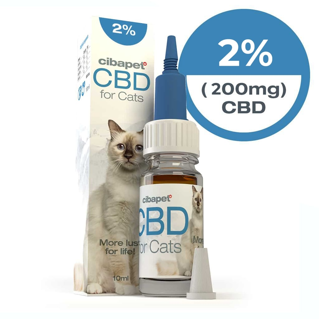 Cibapet 2% CBD oil for cats (200mg CBD)
