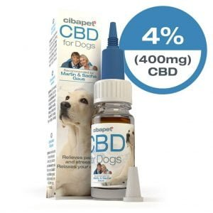 Cibapet 4% CBD oil for dogs (400mg CBD)