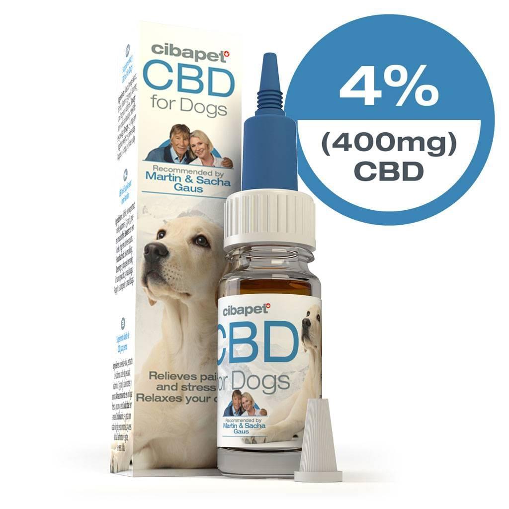 Cibapet 4% CBD oil for dogs (400mg CBD)