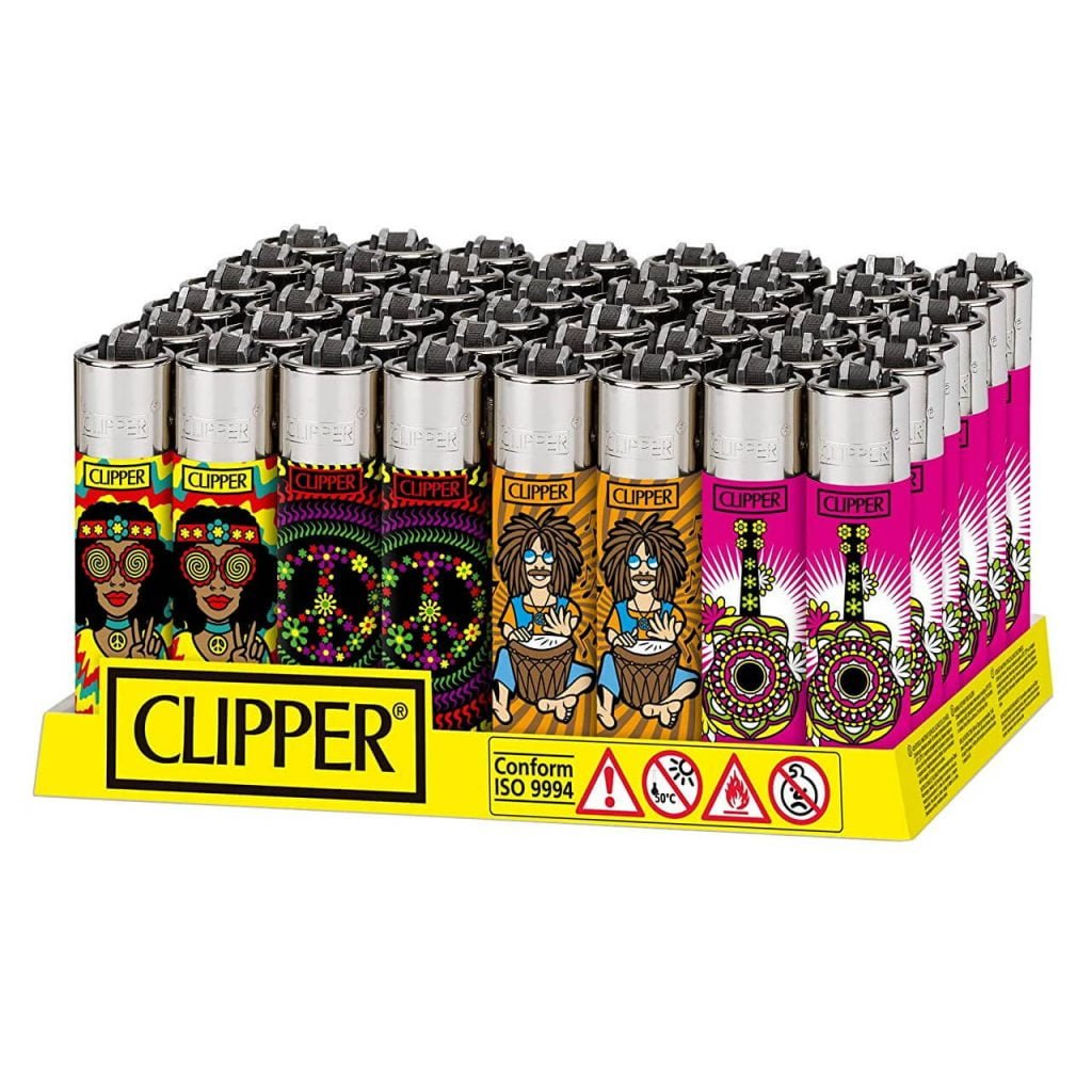 Clipper™ Hippie Peace lighters (48pcs/display)