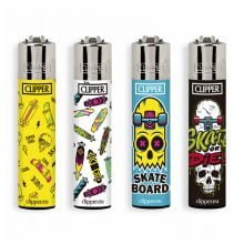 Clipper™ Urban Skate lighters (24pcs/display)