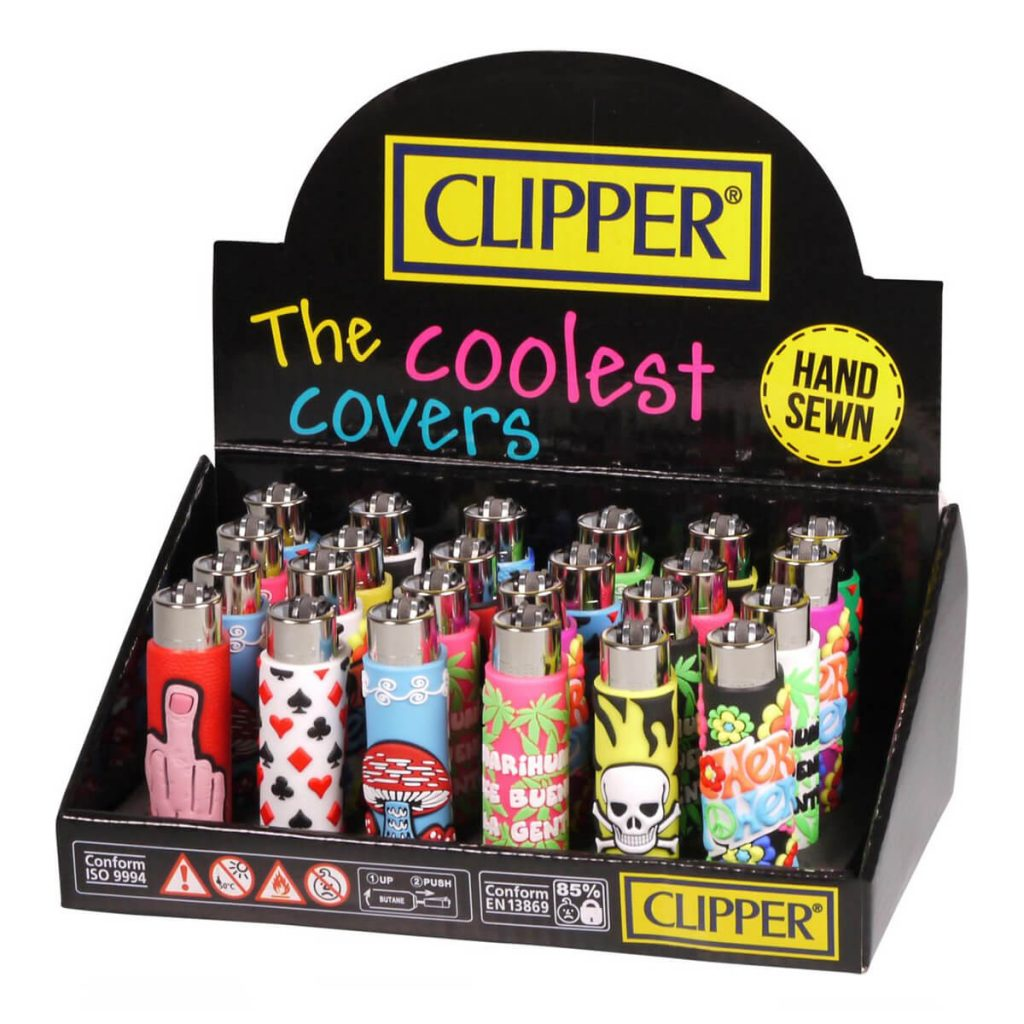 Clipper™ Mix-Go 1 silicone cover lighters (24pcs/display)