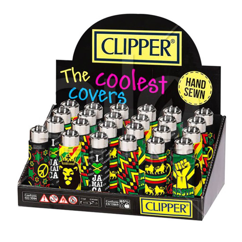 Clipper™ Jamaica 3 silicone cover lighters (24pcs/display)