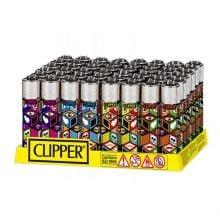 Clipper™ X Patterns lighters (48pcs/display)