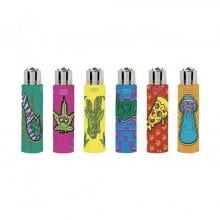 Clipper™ Comic leaves cover lighters (24pcs/display)