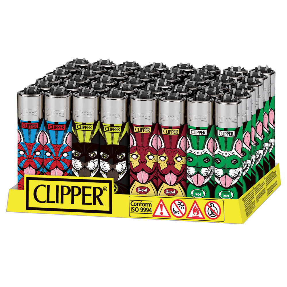Clipper™ Super Dogs lighters (48pcs/display)