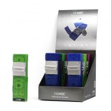 Combie™ All-In-One pocket grinder aluminium - Weed leaf seal 2 (6pcs/display)