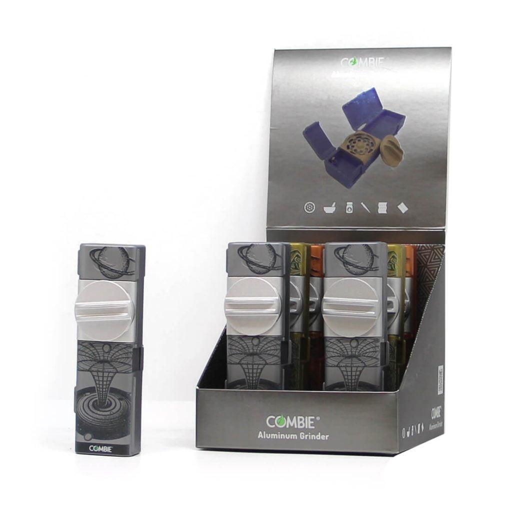 Combie™ All-In-One pocket grinder aluminium -Trippy scenarios (6pcs/display)