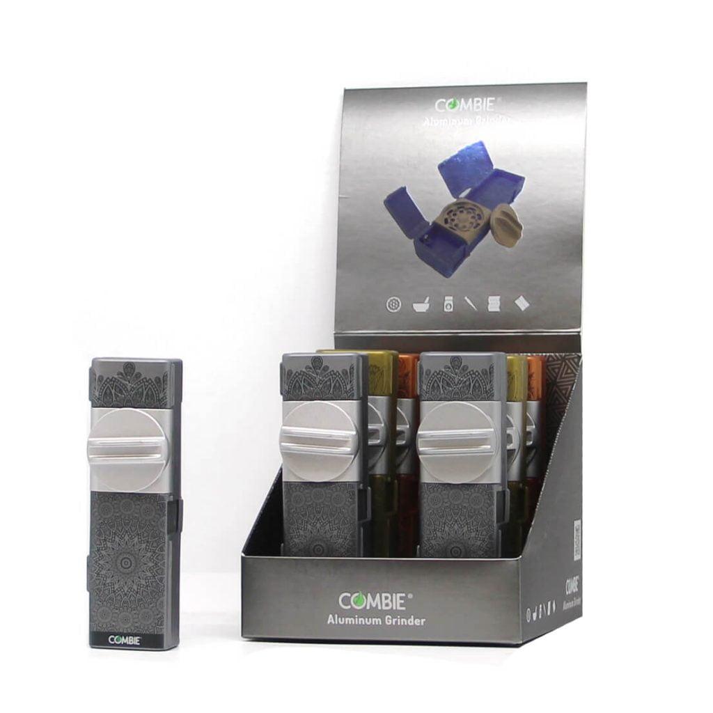 Combie™ All-In-One pocket grinder aluminium - Vortex dream (6pcs/display)
