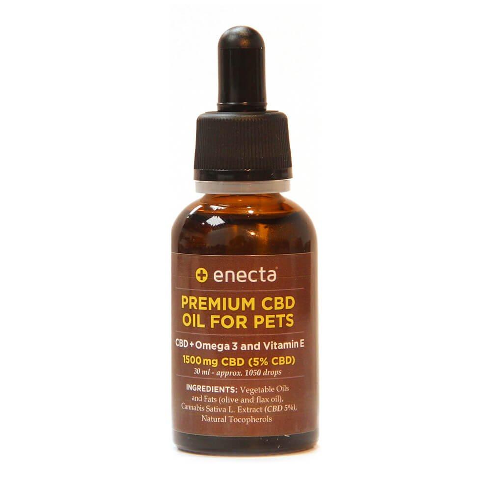 Enecta 5% 1500mg CBD Oil for Pets with Omega 3 and Vitamin E (30ml)