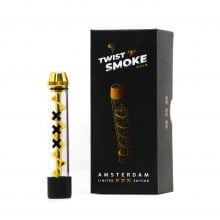 Twist 'n Smoke Twisted Glass Blunt Gold Amsterdam Special Edition