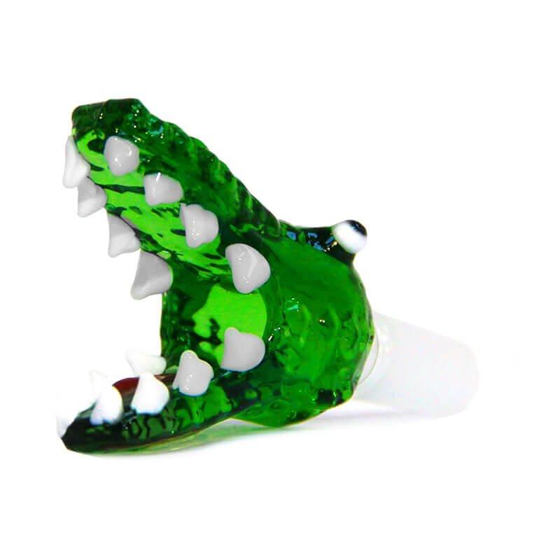 Crocodile Green Glass Bong Bowl 14mm