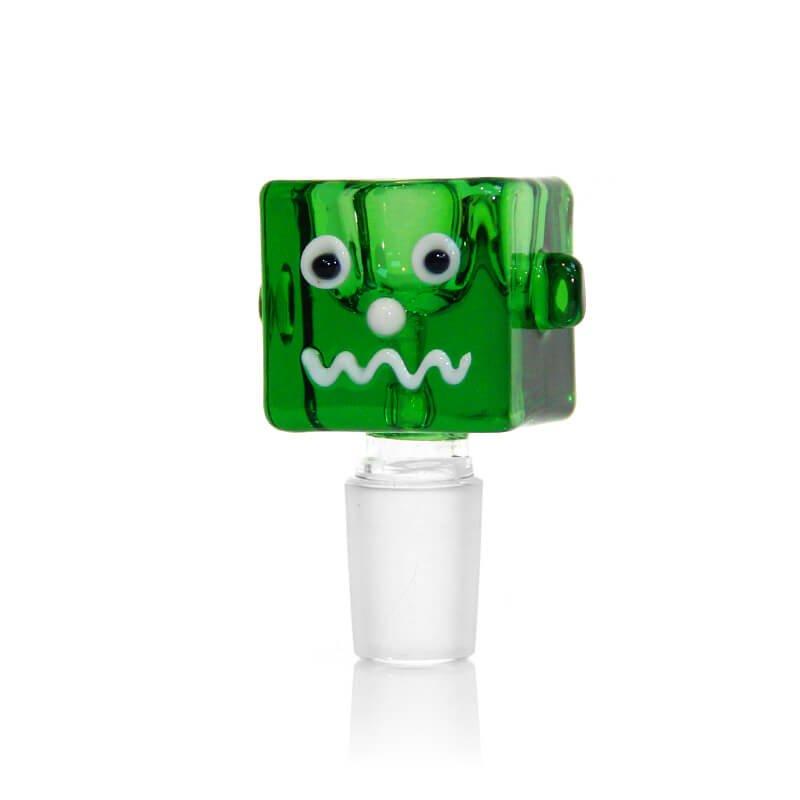 Buddy Cube Green Glass Bong Bowl 14mm