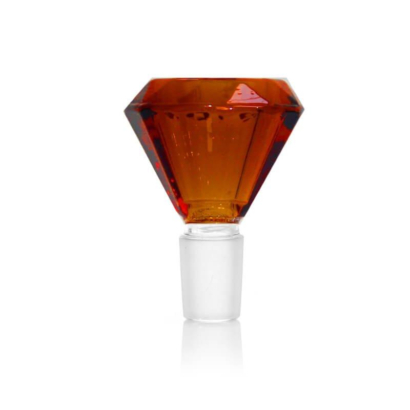Diamond Red Glass Bong Bowl 14mm