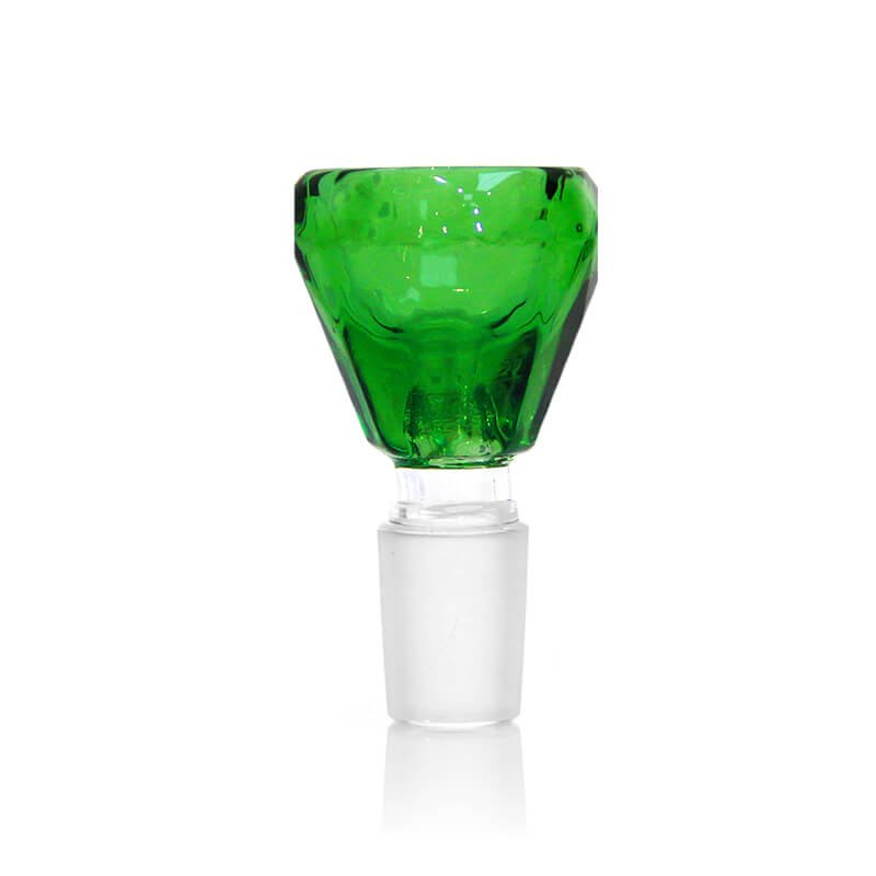 Diamond Shaped Green Glass Bong Bowl 14mm