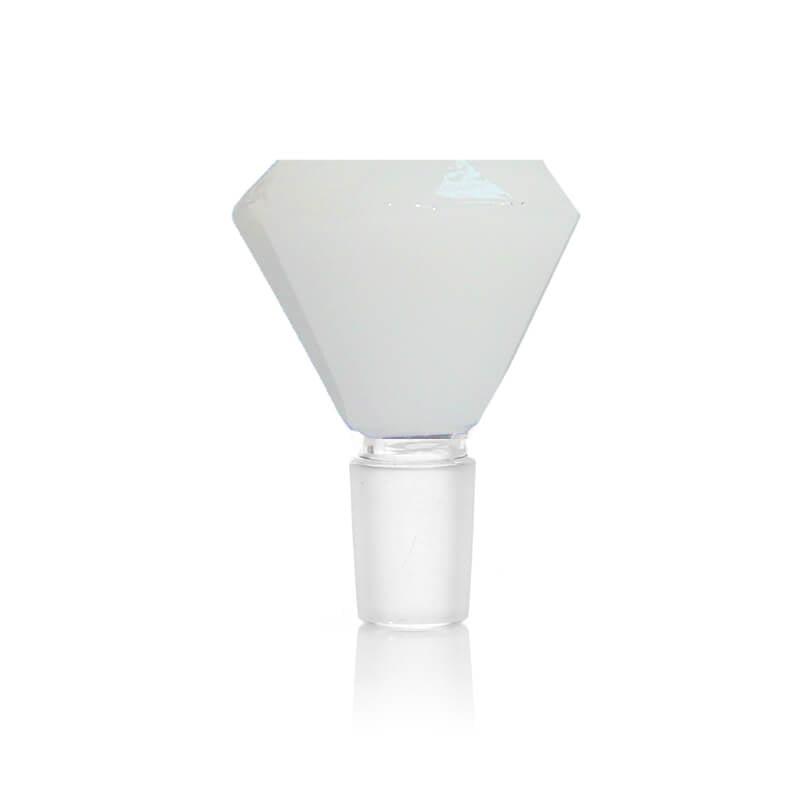 Diamond White Glass Bong Bowl 14mm