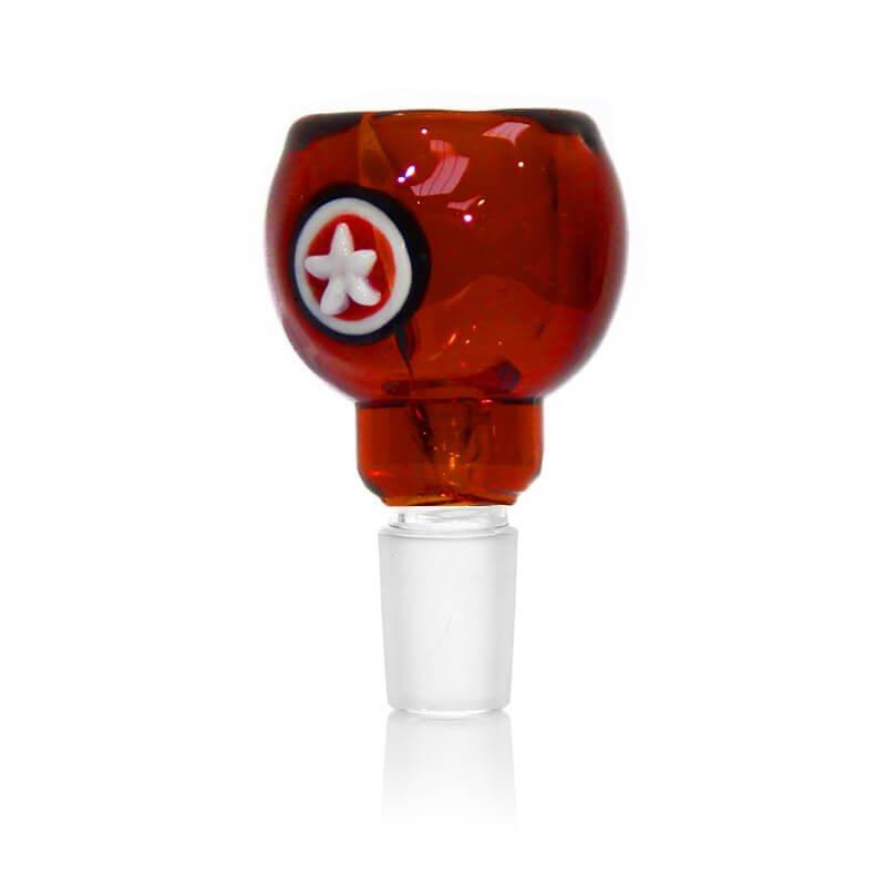 Hero Shield Red Glass Bong Bowl 14mm