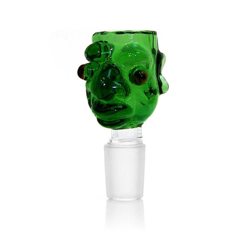 Monster Green Glass Bong Bowl 14mm