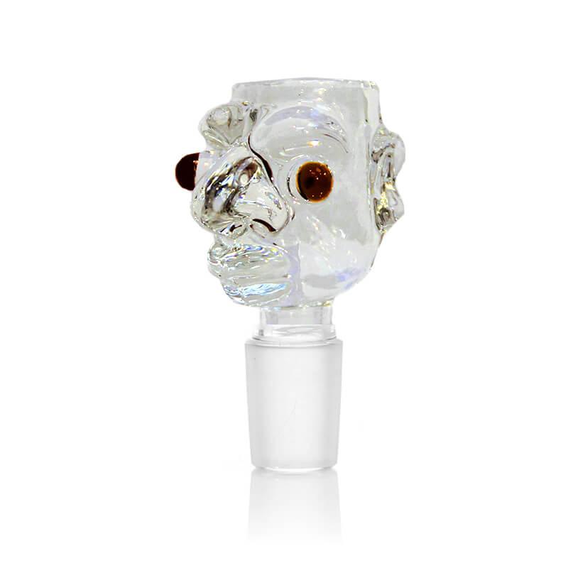Monster Transparent Glass Bong Bowl 14mm