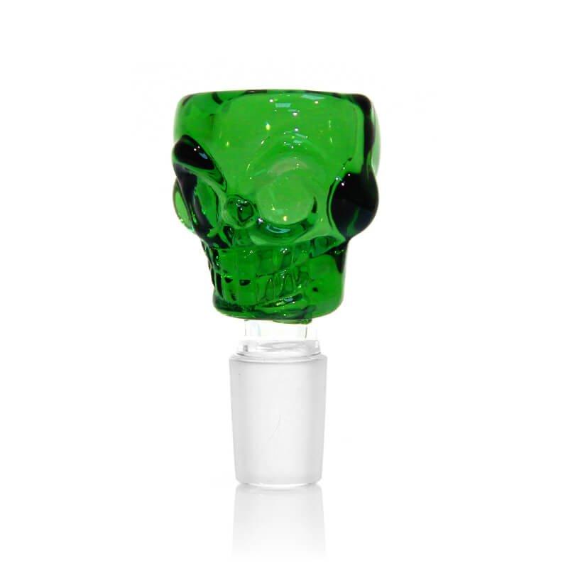Skull Green Glass Bong Bowl 14mm