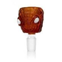 Spider Face Red Glass Bong Bowl 14mm