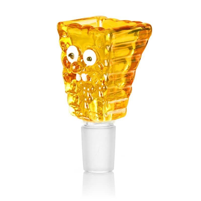 Sponge Yellow Glass Bong Bowl 14mm