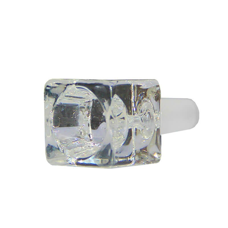 Cube Transparent Glass Bong Bowl 14mm
