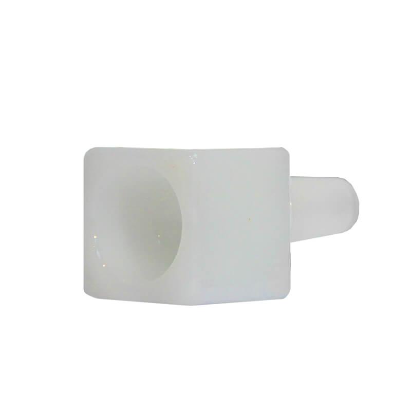 Cube White Glass Bong Bowl 14mm