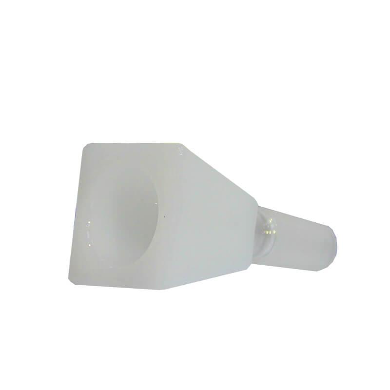 Rectangular Cube White Glass Bong Bowl 14mm