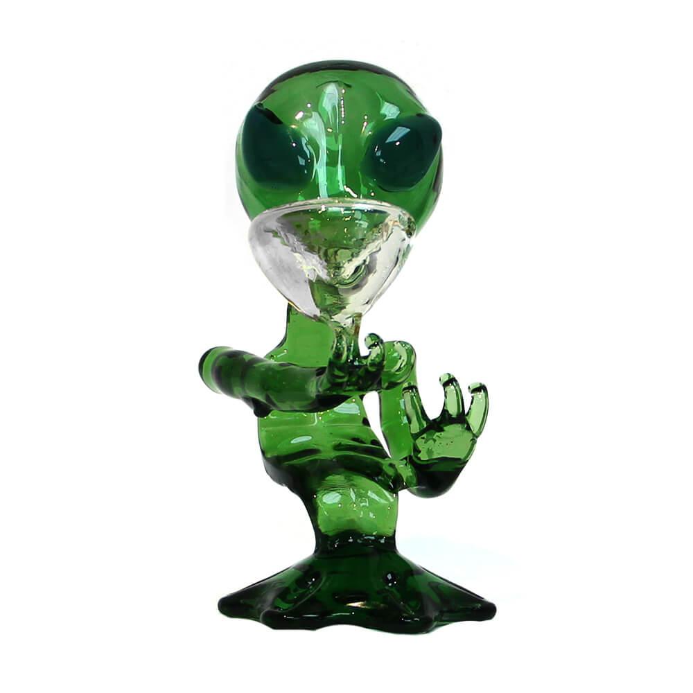 Green Alien Glass Bong 15cm