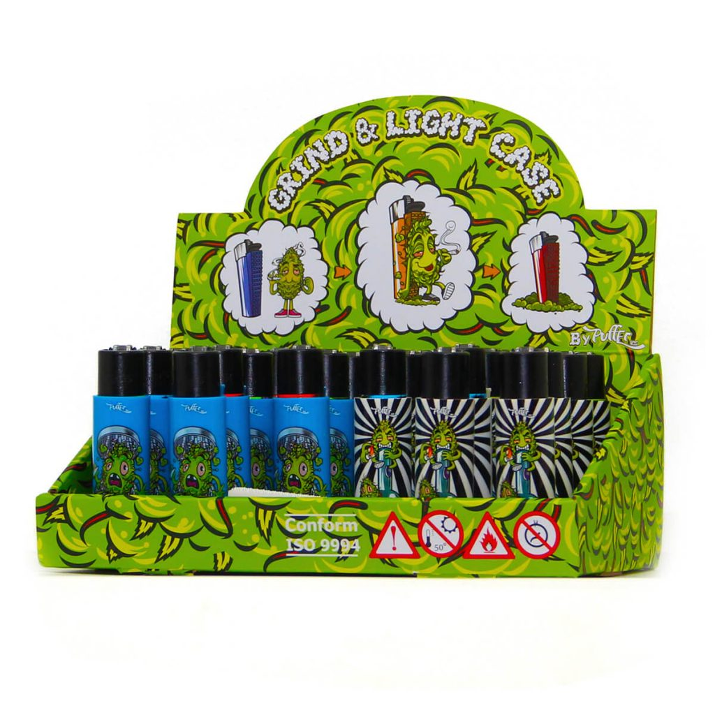 Clipper™ and Best Buds lighter with built-in grinder case 3 (22pcs/display)