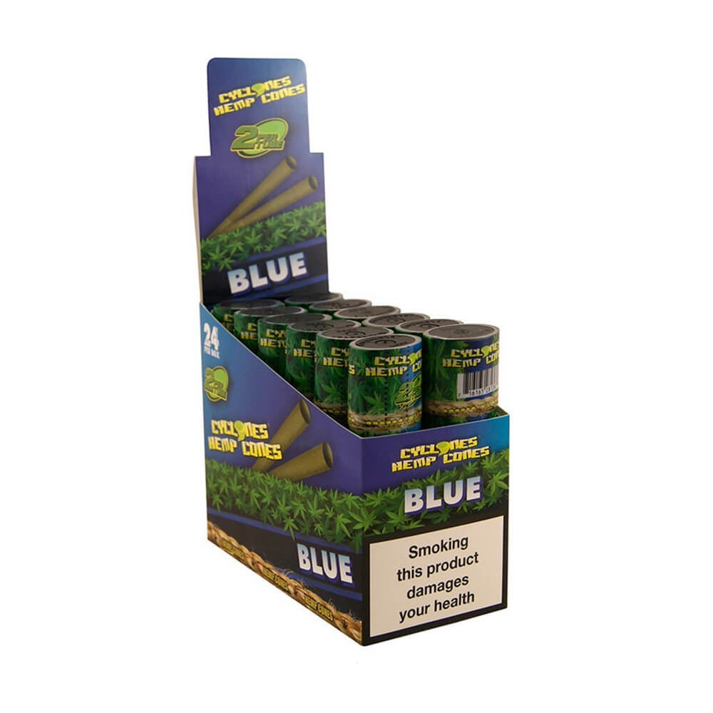 Cyclones Hemp Cones Blue (24pcs/display)