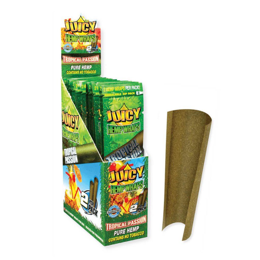 Juicy Jay's Hemp Wraps Blunt Tropical passion (25pcs/display)