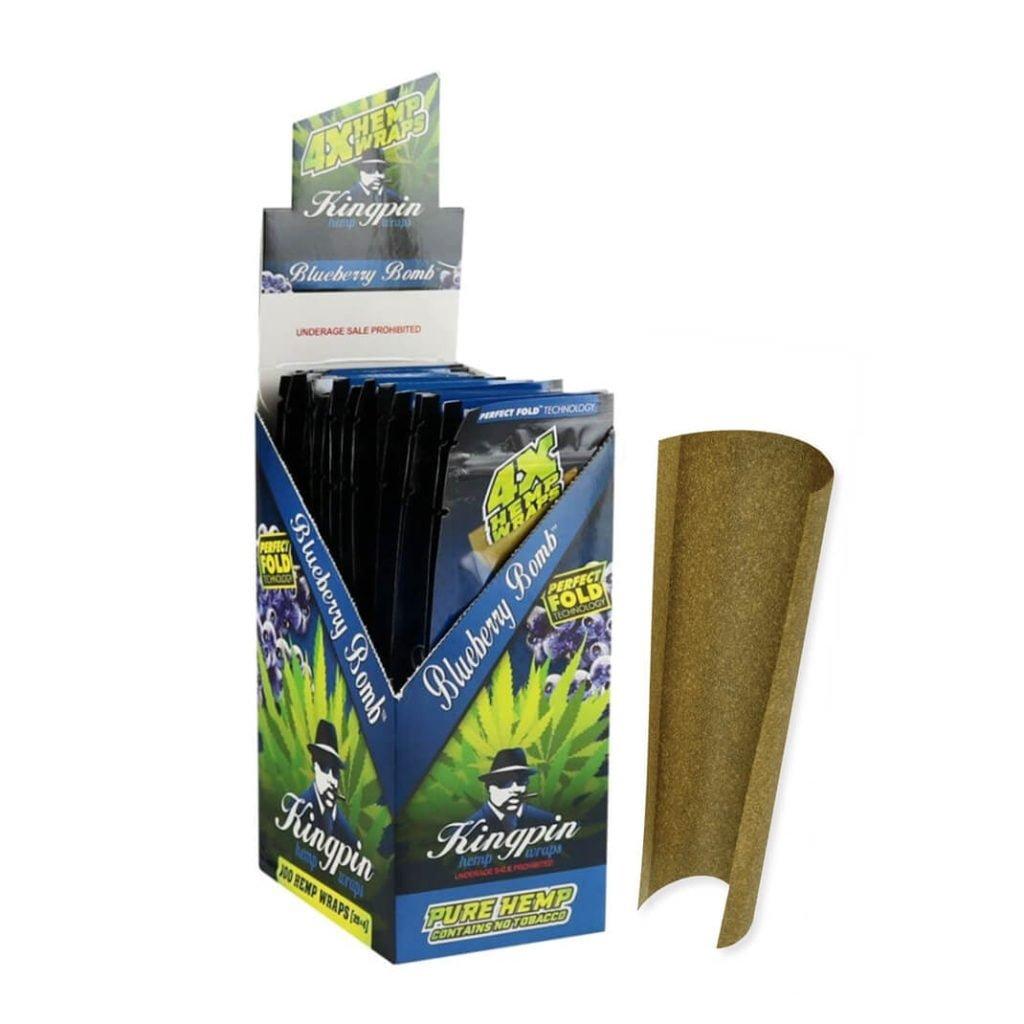 Kingpin Hemp Wraps Blunt Blue (25pcs/display)
