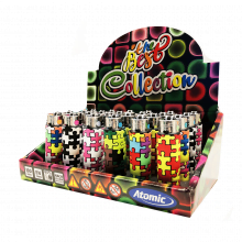 Atomic silicon cover 3D lighters puzzle (24pcs/display)