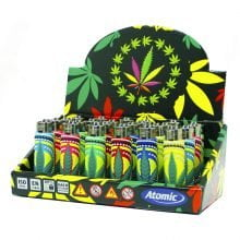 Atomic silicon cover 3D lighters weed leaf circus (24pcs/display)