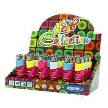 Atomic silicon cover 3D lighters groove tongue (24pcs/display)