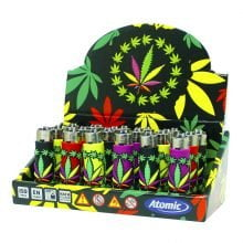 Atomic silicon cover 3D lighters weed leaf crown (24pcs/display)