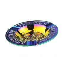 Amsterdam rainbow weed leaf metal ashtray