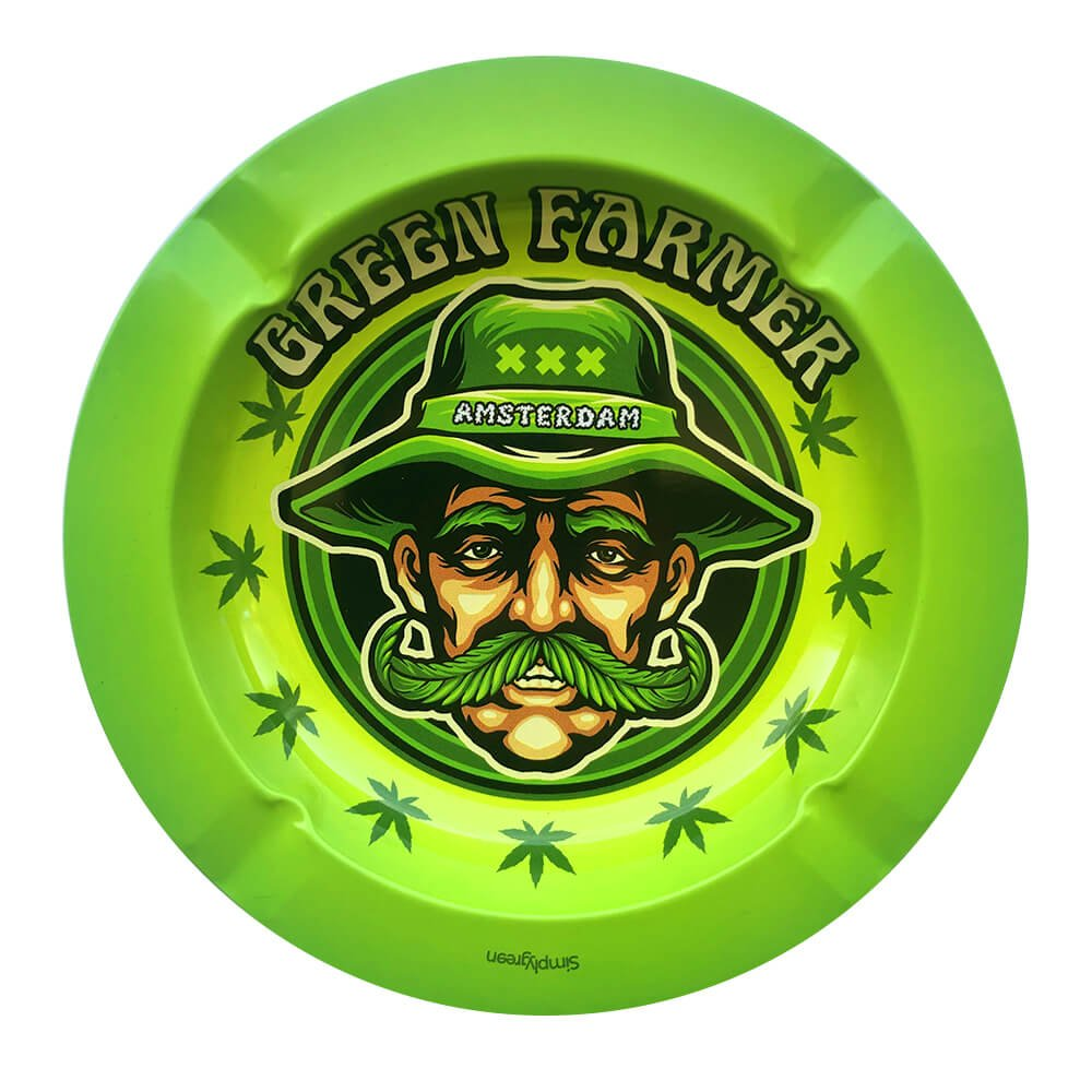 Best Buds - Mr. Green Farmer Metal Ashtray