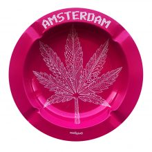 Best Buds - Pink Weed Leaf Metal Ashtray